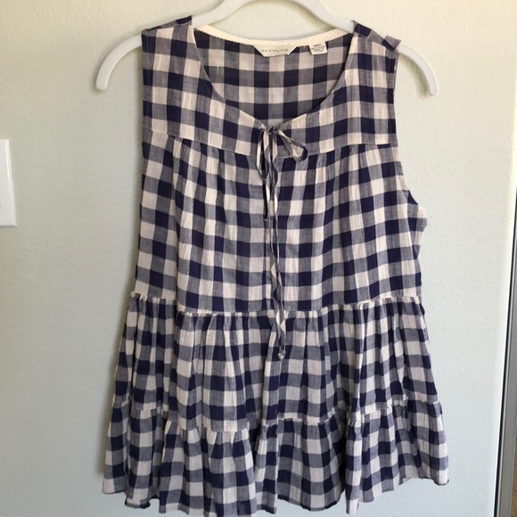 1755111fe471a Anthropologie Tops - Anthropologie TYLHO Skirted Gingham Top
